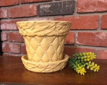 Yellow McCoy Quilted Planter