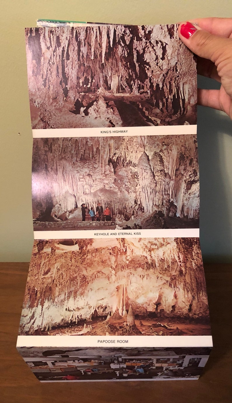 Carlsbad Caverns Postcard Fold Out Booklet