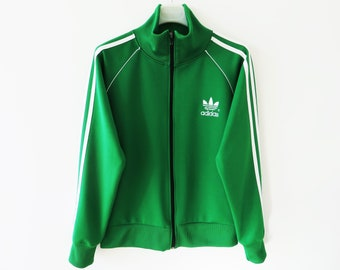 666911241268 Vintage 90s Green Adidas Sport Jacket Three Stripes Track Jacket Hipster  Jogging Jacket Running Parka Adidas Zipper Tracksuit Jacket Small