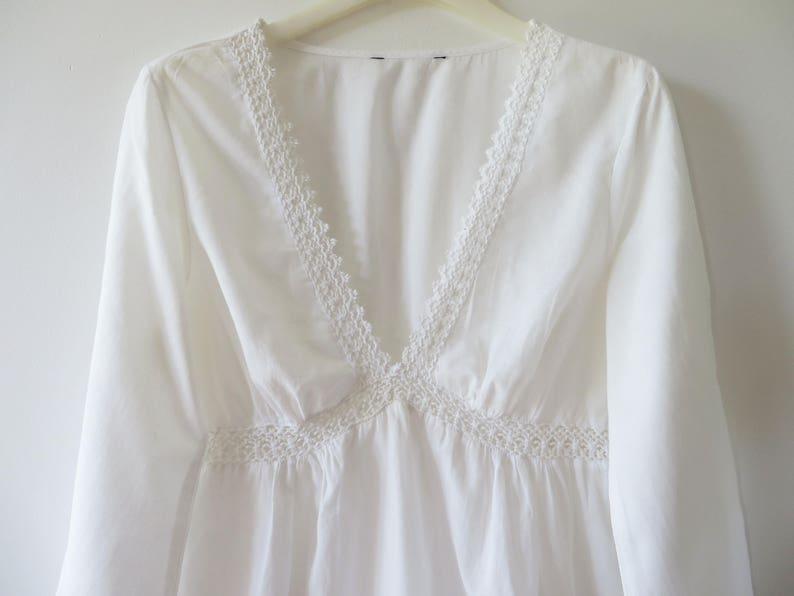 05fa1ee97 Algodón blanco Batista túnica mujer ligera blusa de verano