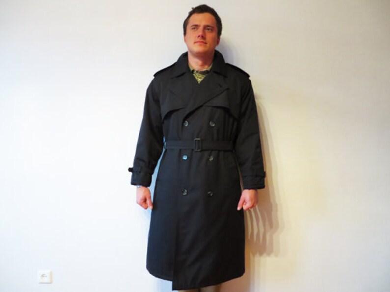 Trench Blu Navy Trench Coat doppio petto cappotto caldo  8629a165b608