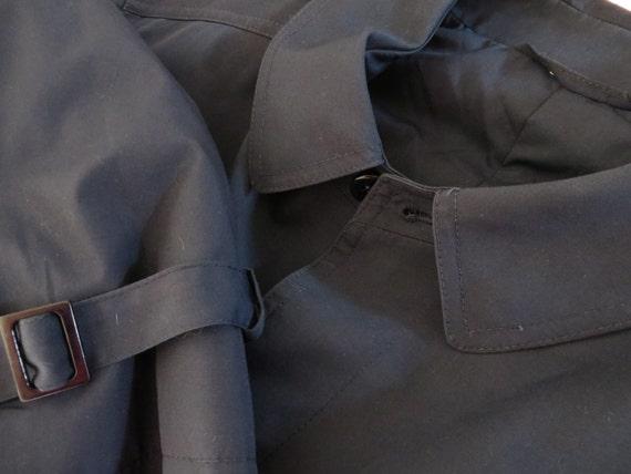 Navy Trench Coat Warm Classic Men's Trench Dark B… - image 4