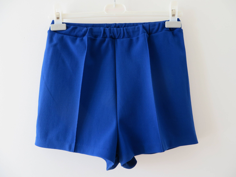 Vintage 60s 70s Blue Running Shorts Mens Swimwear