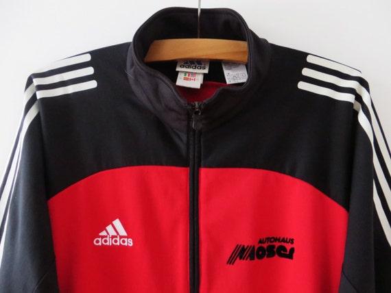 Adidas Sport Jacke rot Adidas Track Jacke Adidas Jogging Jacke   Etsy 90f089f69f