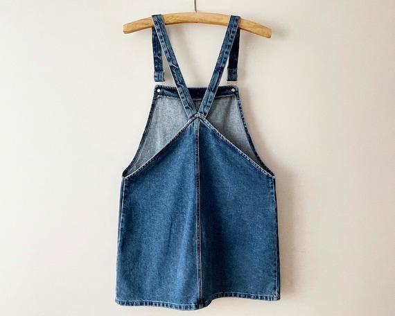 90s Denim jumper dress, Blue cotton denim overall… - image 2