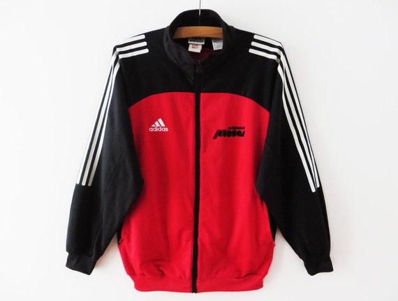 Trainingsanzug Drei Track Mittel Bis Adidas Sport Rot AusgeführtParka Groß Jacke Jogging Streifen OPXikTwZu