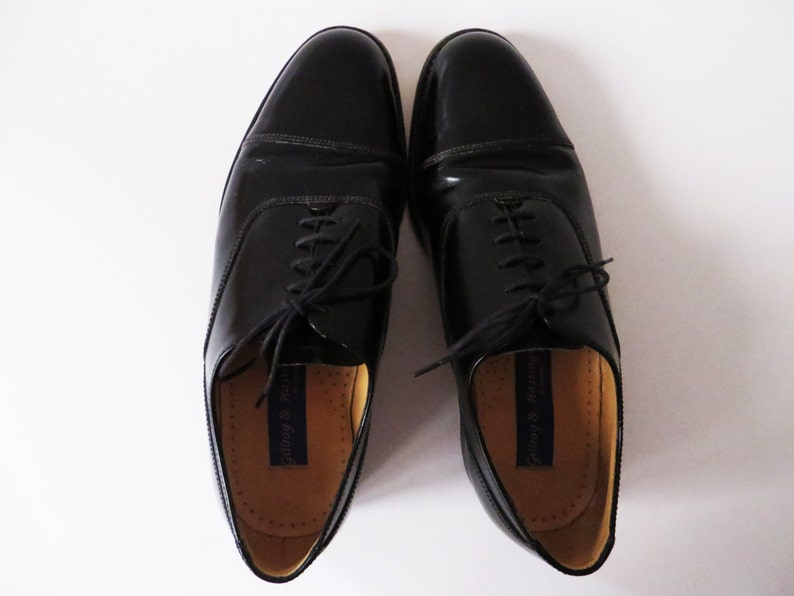 Mens Brogues Black Leather Shoes Classic Leather Oxfords Dress Derby Shoes Ball Formal Evening Retro Urban Smart Casual Footwear Size UK 7