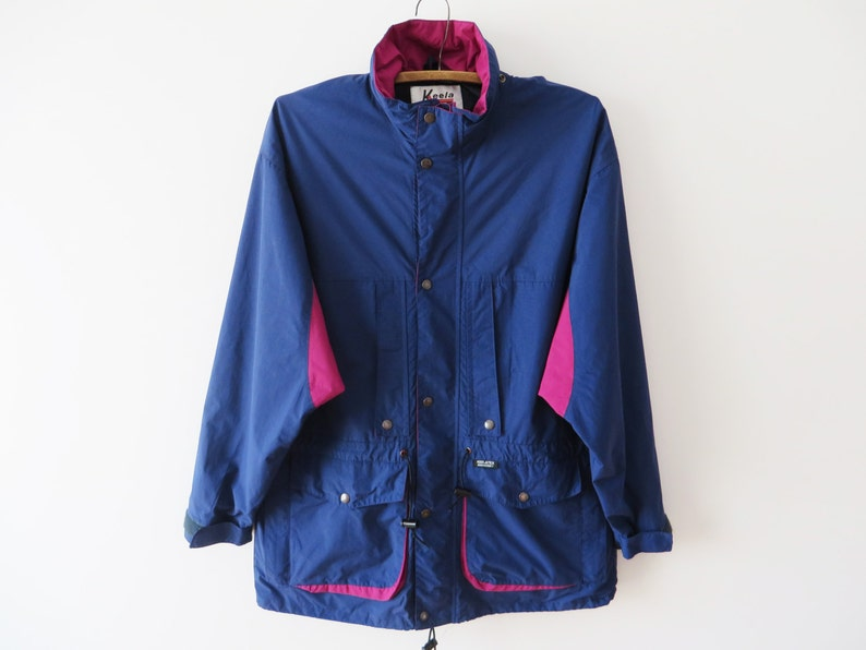 417e12287f6 Navy Mens Parka Dark Blue Jacket Lightweight Parka Blue Windbreaker Navy  Outdoor Jacket Men Fisherman Coat Camping Travel Jacket Size Large