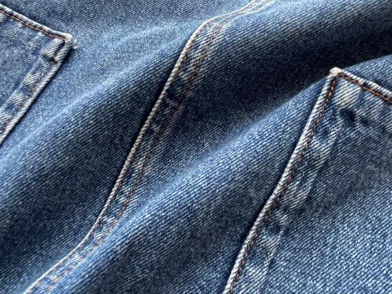 90s Denim jumper dress, Blue cotton denim overall… - image 6