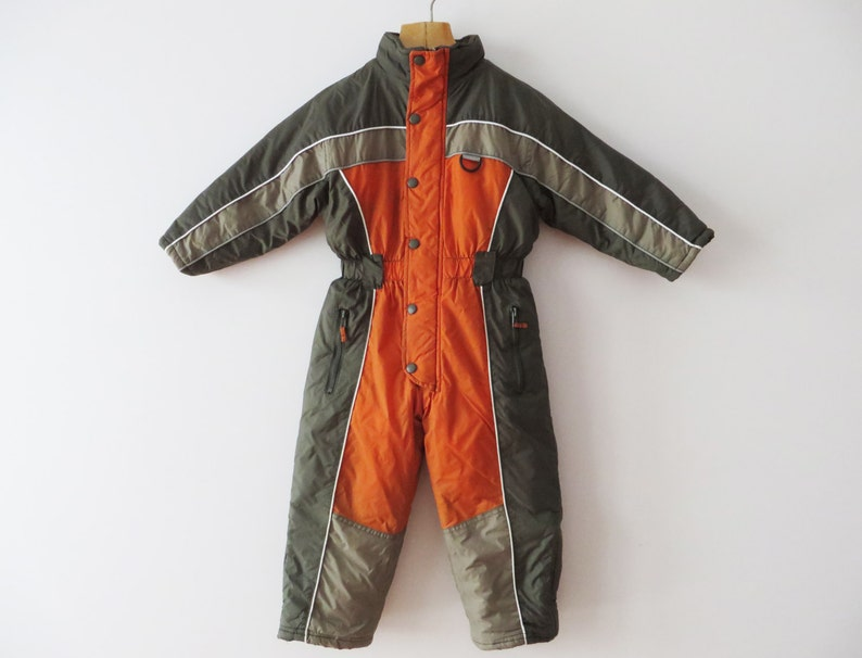 b2cc527d7fa4 Kids Ski Suit All in One Suit One Piece Ski Suit Orange One