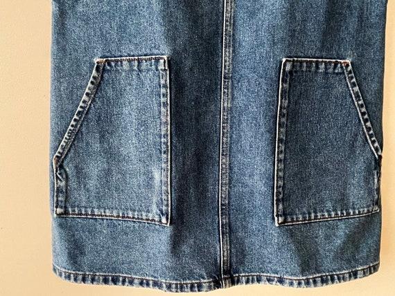 90s Denim jumper dress, Blue cotton denim overall… - image 7