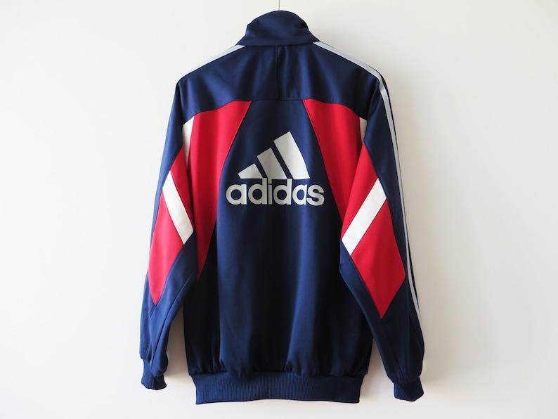 VINTAGES Adidas Track Jacket veste de Jogging Adidas Running Parka Hipster rétro Sport Adidas veste trois rayures survêtement veste cadeau lui