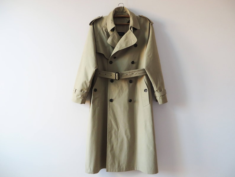 4ac1651ab1dab Vintage 80s Double Breasted Men Trench Coat Detachable