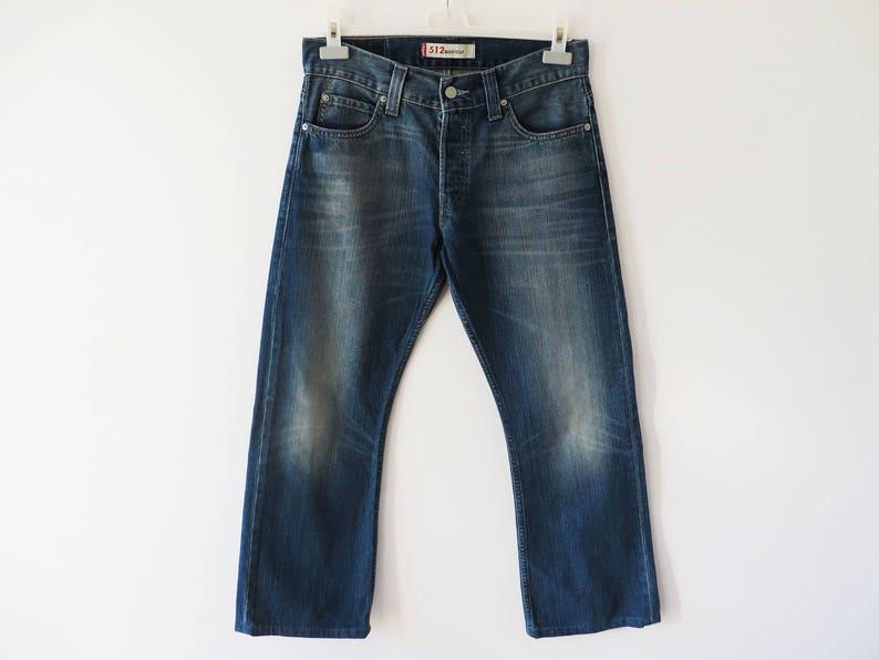 f474eefc0a5 Vintage Levis 512 Jeans Size 30 Indigo Blue Denim W 32   Etsy