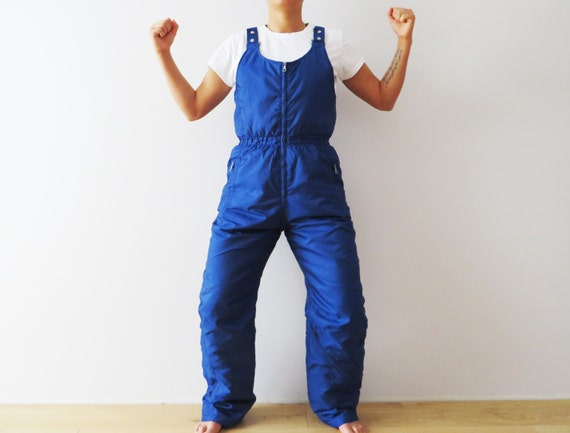 Vintage 80s Blue Skiing Pants Puffer Snow Pants Hipster  dd2364b40