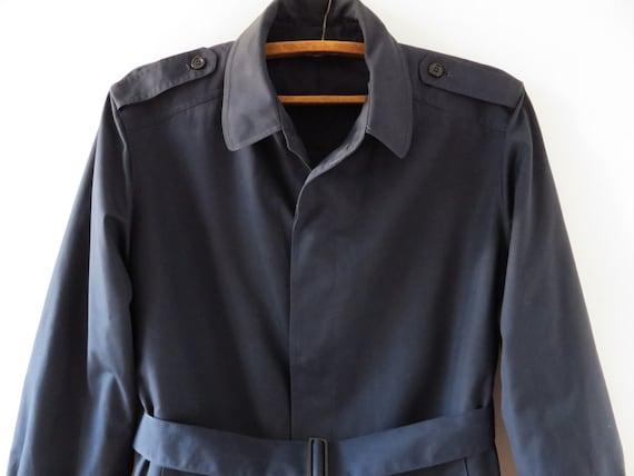 Navy Trench Coat Warm Classic Men's Trench Dark B… - image 2