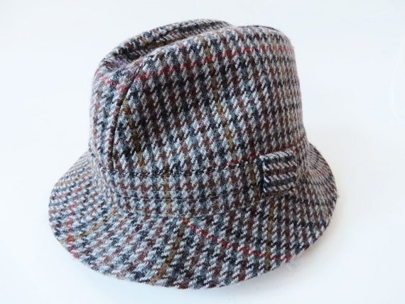 Cappello lana primavera cappello di plaid Mens Fedora Vintage  bdca30770163