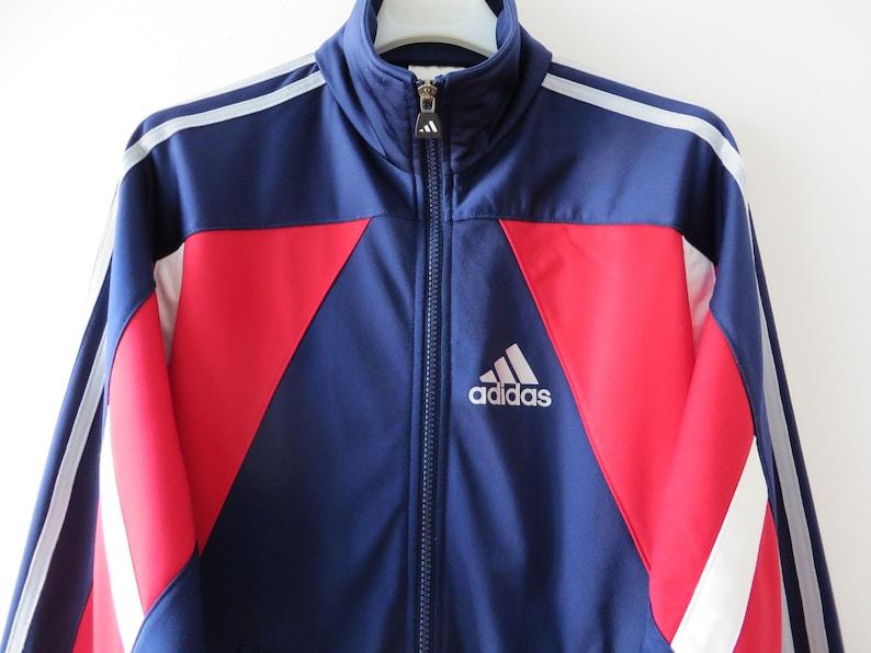 012141d3e3e31 Adidas Vintage pista giacca Adidas Jogging Running Jacket