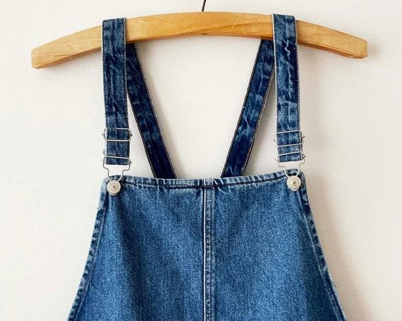 90s Denim jumper dress, Blue cotton denim overall… - image 3