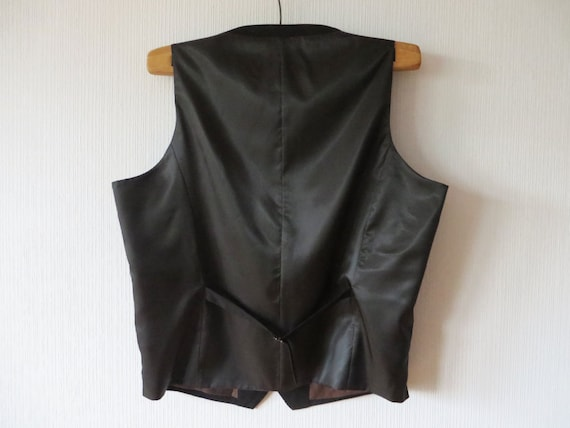 Mens Vest Black Vest Black Gentlemen/'s Formal Fitted Men/'s Vest Gentlemen/'s Waistcoat Edwardian Victorian Renaissance Steampunk Baroque