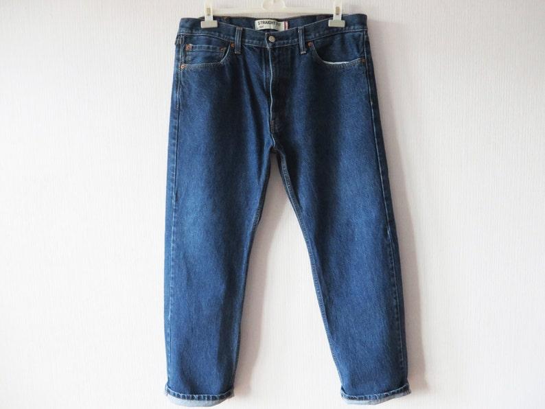6e765022a96 Levi's 505 Jeans Men's Vintage Jeans Dark Blue Jeans | Etsy