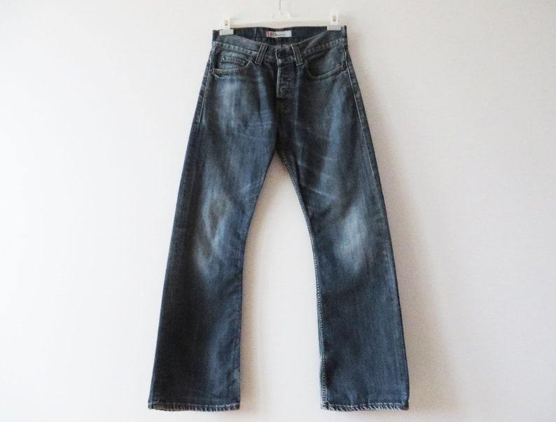 2f3df945c13 Levis 512 Jeans Dark Blue Denim Men Bootcut Jeans Navy | Etsy