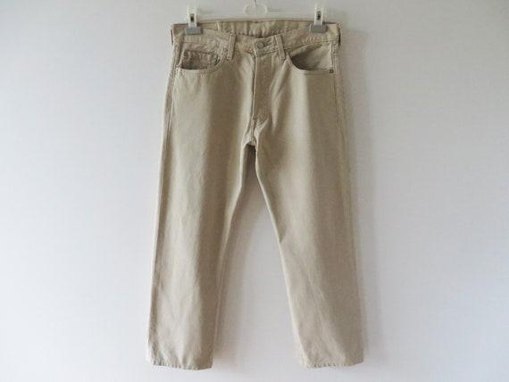Levi Strauss 501 Jeans Beige Men Highwaist Jeans L