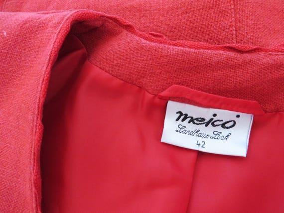 Dirndl rosso rosso donne giacca ritagliata Trachten Blazer Baviera giacca Austria tirolese breve Loden giacca suoni di musica grandi dimensioni