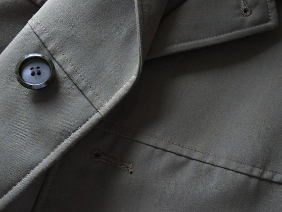 Trench Années Kaki Court Coat Des Vintage Bcbg Homme Vert 80 UYWwqa