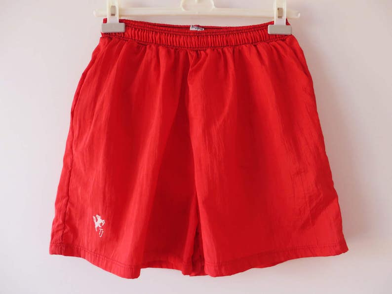 2b1f0e13451 Hot Red Shorts Men's Swimwear Red Swimming Trunks Athletic | Etsy
