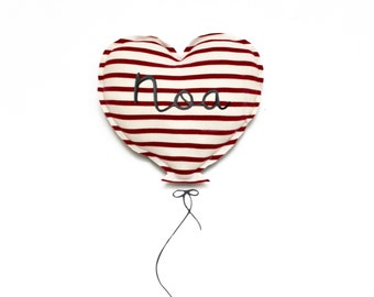 Little sailor, personalized heart balloon.