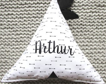 Personalized teepee pillow