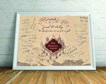 Marauder's Map Guestbook Alternative *Printable