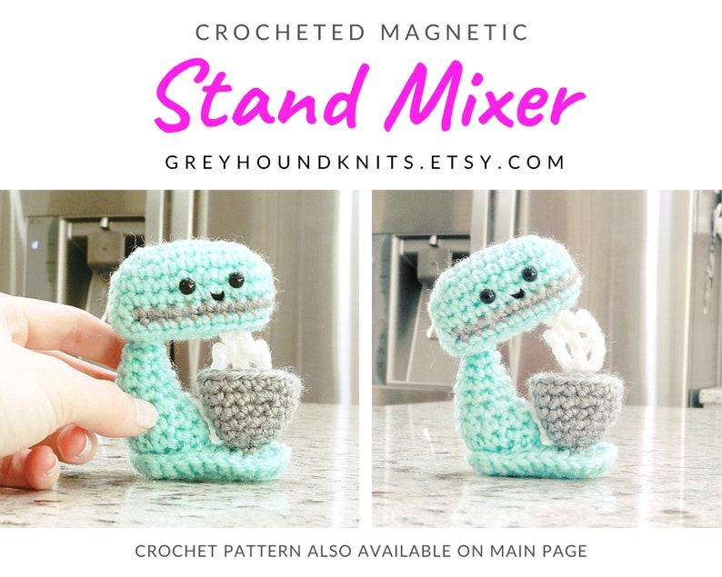 Stand mixer crochet magnet unique cute baker chef gift