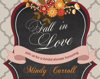 Fall Bridal Invitation