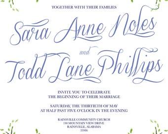 Custom Wedding Invitation Set