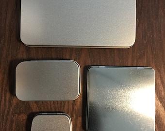 Empty Tins, Watercolor Palette Box, Metal Tin