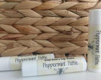 Peppermint Pattie Beeswax Lipbalm/ Beeswax Lip Balm/ Peppermint Pattie Lip Balm/ Beeswax Chapstick / Deb*bee's Beeswax Lip Balm