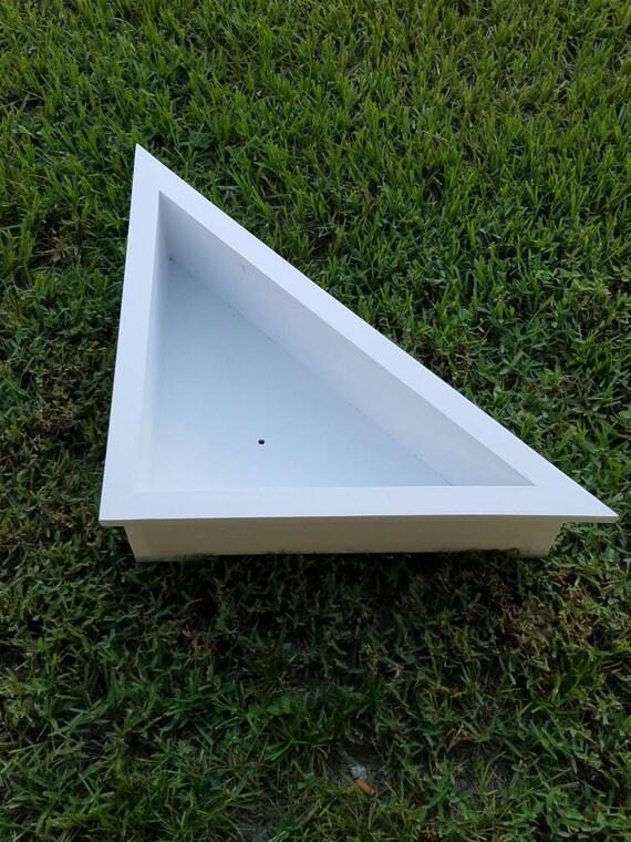 90 Degree 24 Inch Gloss White Wooden Planter Box Etsy