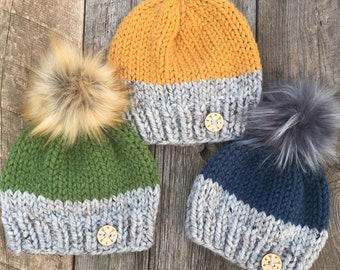 24214954449 Pick Your Own - Adventure Colour Block Knit Toque or Hat - All Sizes -  Newborn - Baby - Child - Adult - Amy Nicole Designs - boy