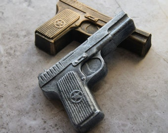 "Large Pistol Gun Flexible Resin Mold 4.5/"" x 3.25/"" x 1//4/"" thick"