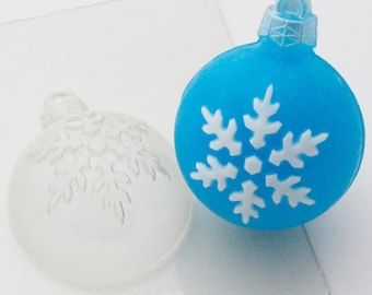 Snowflake christmas ball plastic mold for bath bomb soap ice clay new year cute