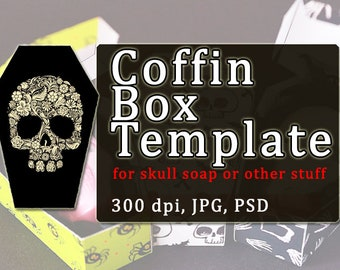 coffin template etsy