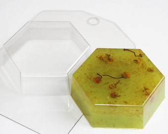 Hexagonal mold, plastic mold, geometric mold, geometric figure, square mold, rectangle mold, shape mold, square soap, square bath bomb