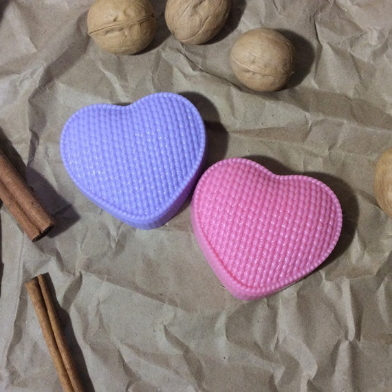 """/""""Knitted heart/"""" plastic soap mold soap making mold mould"""
