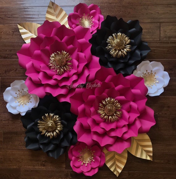 8 piece kate inspired paper flowers wedding decor bridal decor il570xn mightylinksfo