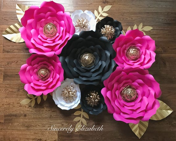 9 piece kate inspired paper flowers wedding decor bridal decor il570xn mightylinksfo
