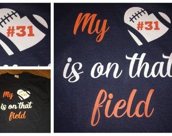 Football Girlfriend Shirt Custom Football Shirt Football Bow Etsy