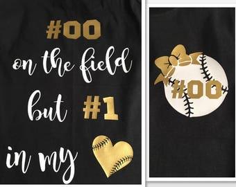 726578a79 Baseball Girlfriend Shirt - Custom Baseball Shirt - baseball Bow - number  one in my heart shirt - Favorite Player - Personalize with name