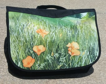 California Poppies Messenger Bag